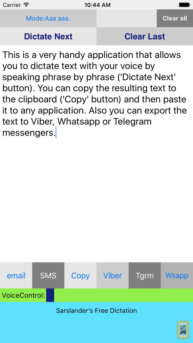 Screenshot - Easy Voice Dictation