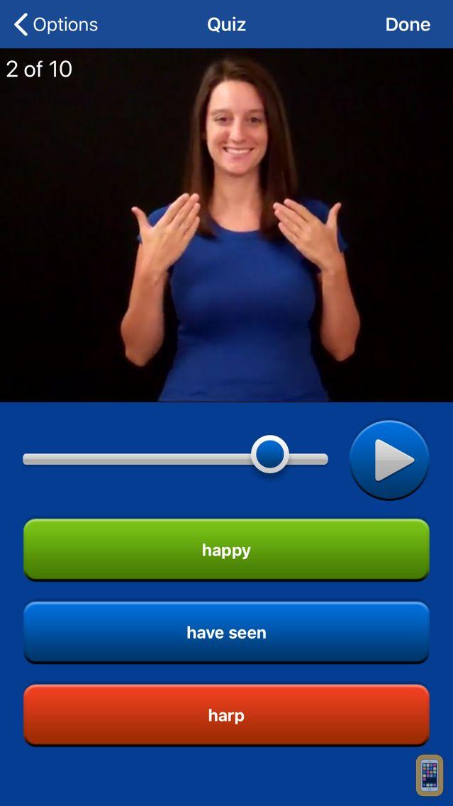 Screenshot - ASL Dictionary Sign Language