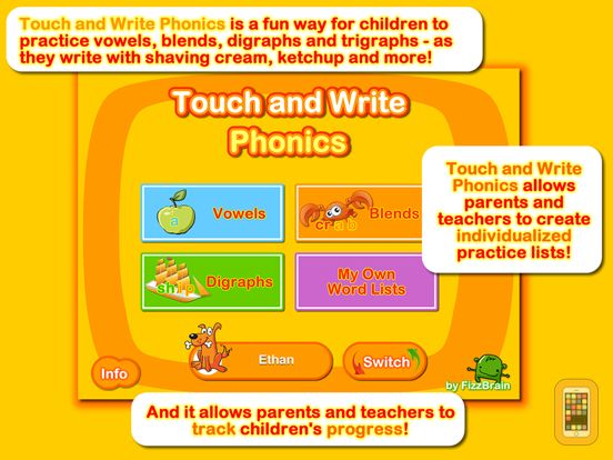 Screenshot - Touch and Write Phonics