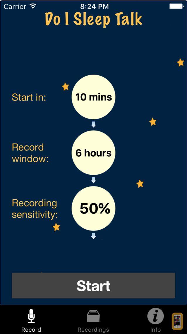 Screenshot - Do I Sleep Talk: Record snore and sleep talking