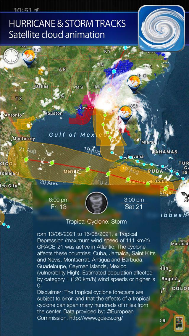 Screenshot - Hurricane - storm tracker + satellite radar