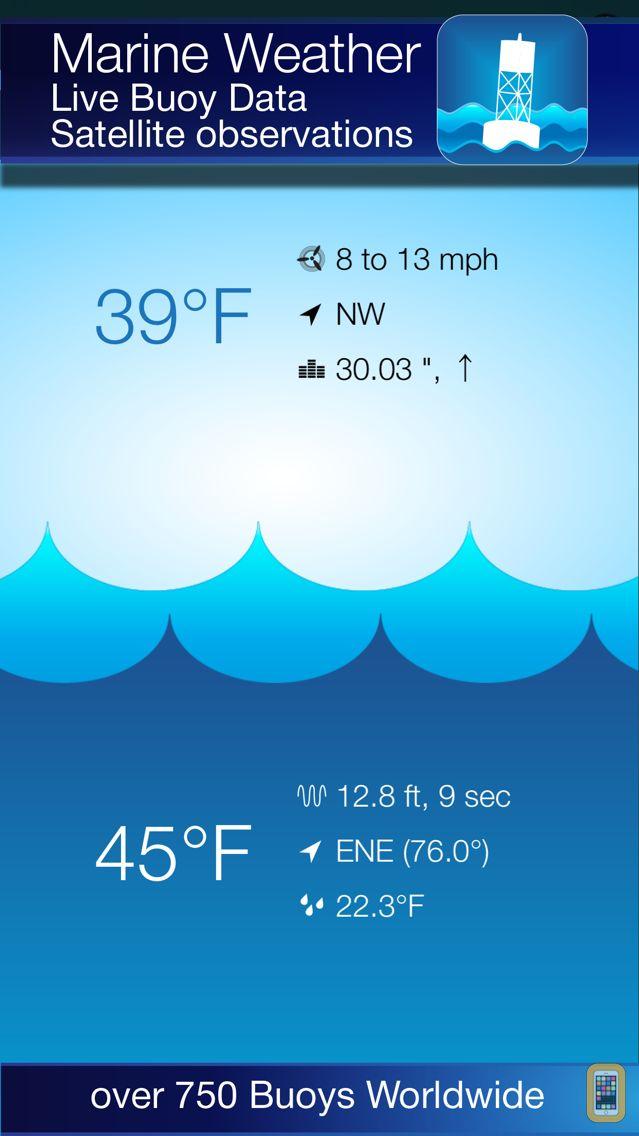 Screenshot - Buoy Finder NOAA NDBC