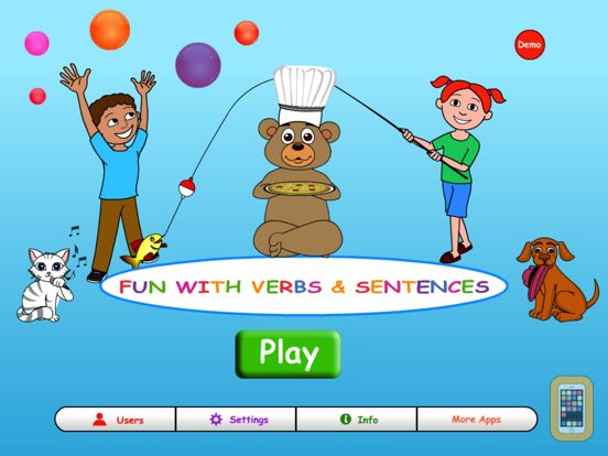 Screenshot - Fun with Verbs & Sentences HD