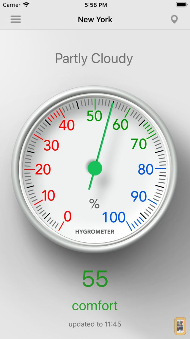 Screenshot - Hygrometer - Check humidity