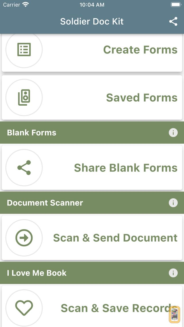 Screenshot - Soldier Forms and Documents
