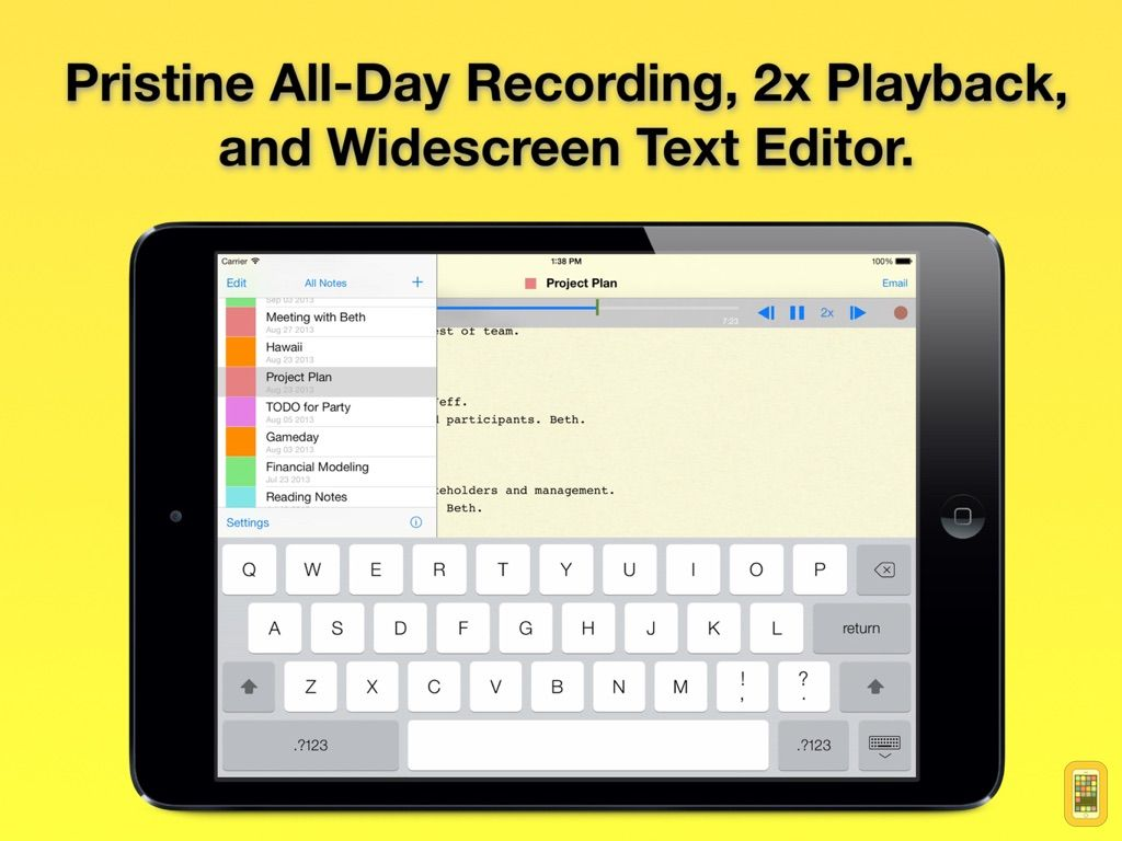 Screenshot - Audio Notebook: Sound Recorder