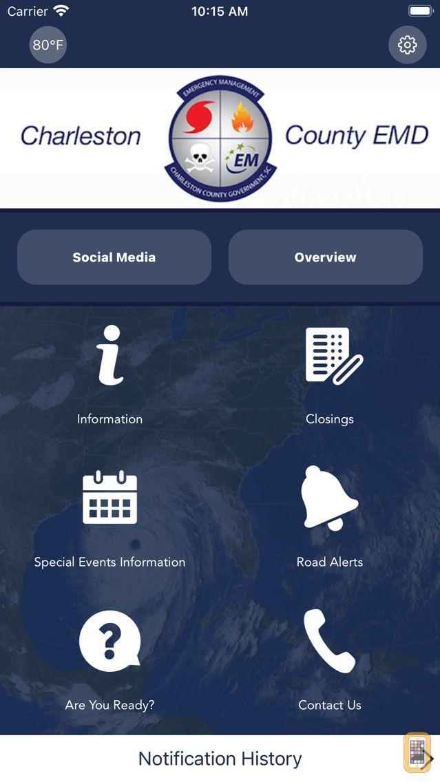 Screenshot - Charleston County EMD