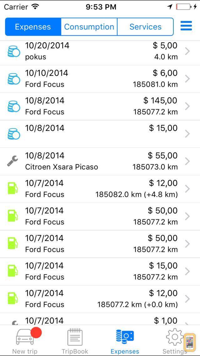 Screenshot - VEZMA Tracker: GPS vehicle mileage and route tracker