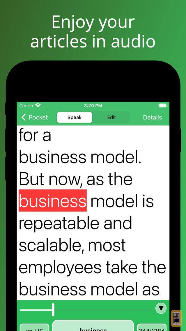 Screenshot - Speaky - Article Voice Reader