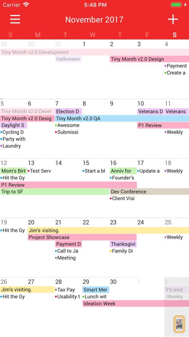 Screenshot - Tiny Month - Easy Calendar