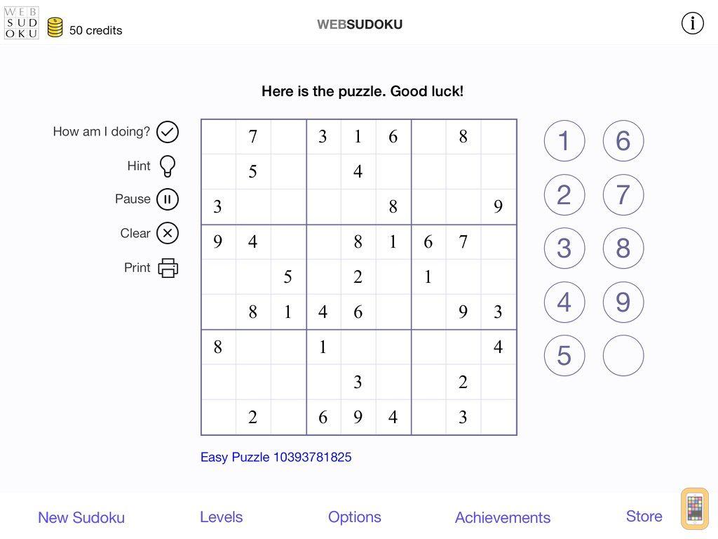 Screenshot - Web Sudoku