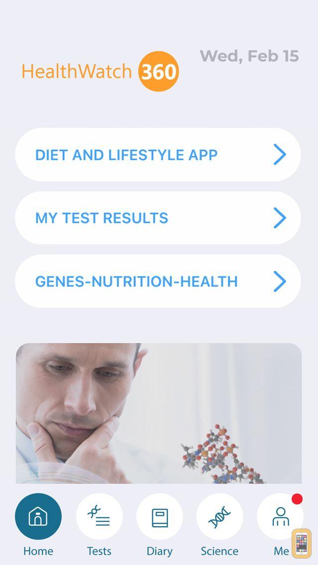Screenshot - HealthWatch 360 – the best Gene Nutrition Health Tracker app by GBHealthWatch