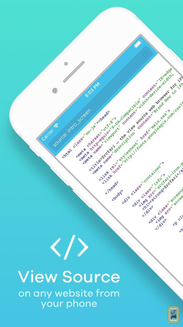 Screenshot - Srcfari: view html source code