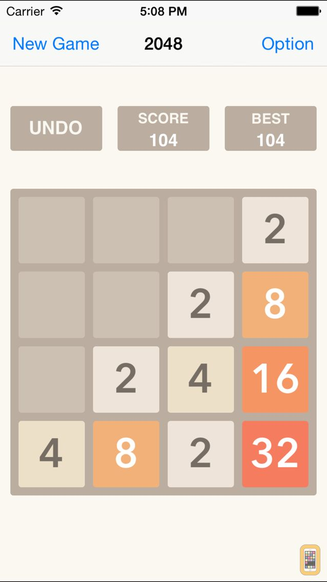Screenshot - 2048 UNDO Plus, Number Puzzle HD, the Hot Game Free Challenge Edition Backwards App NO Cheat Beyond Flappy Bird Angry Talking Firm Smash It 100 times Weed Balls New Season Golf Beats Music Office Mobi