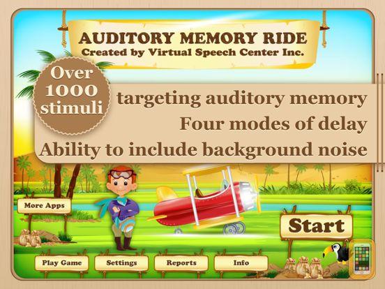 Screenshot - Auditory Memory Ride