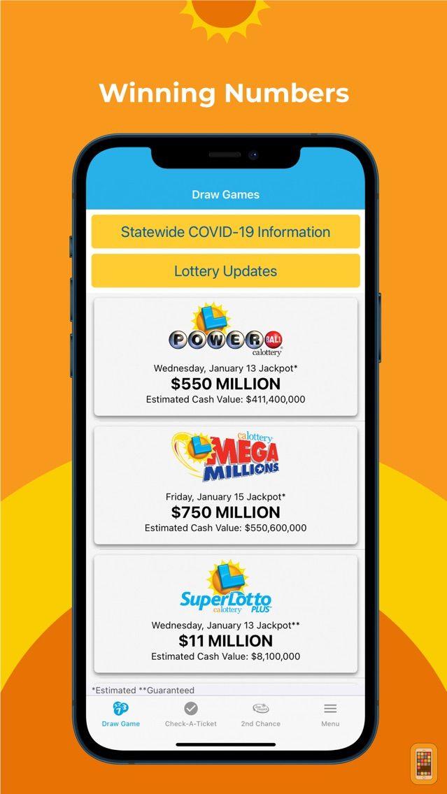 Screenshot - CA Lottery Official App