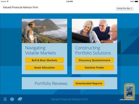 Screenshot - AssetMark Advisor