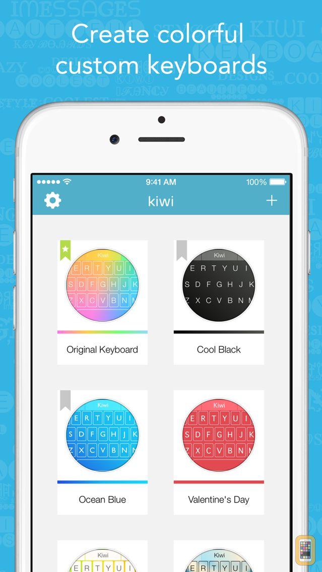 Screenshot - Kiwi - Colorful, Custom Keyboard Designer with Emoji for iOS 8