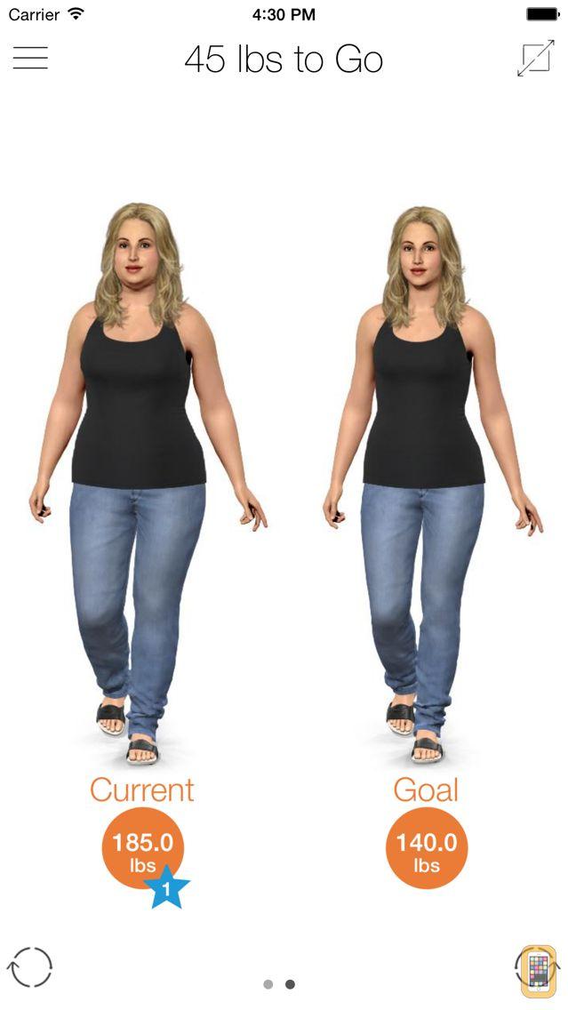 Screenshot - Model My Diet - Women
