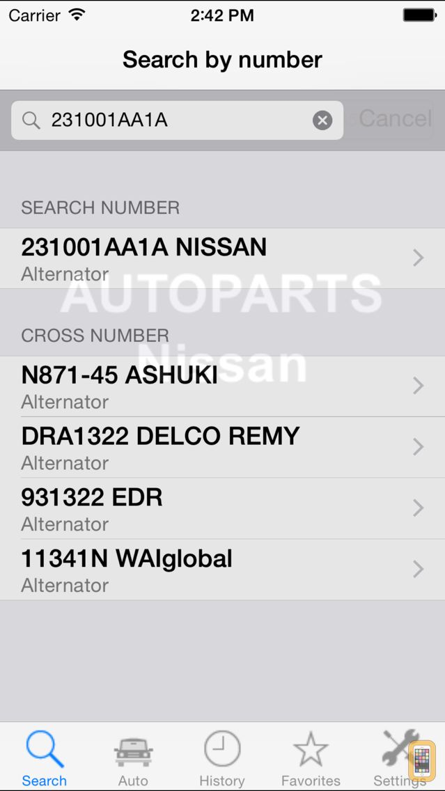 Screenshot - Autoparts for Nissan