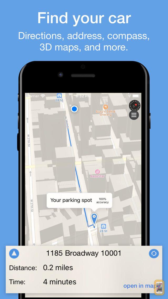 Screenshot - ParkIt - parking location and expiration reminder