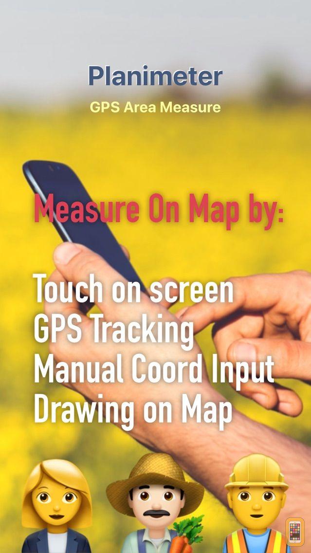 Screenshot - Planimeter - GPS area measure