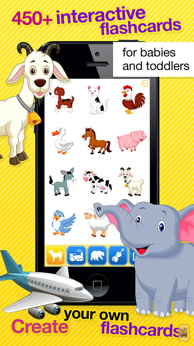 Screenshot - Smart Baby Touch HD - Amazing sounds in toddler flashcards of animals, vehicles, musical instruments and much more