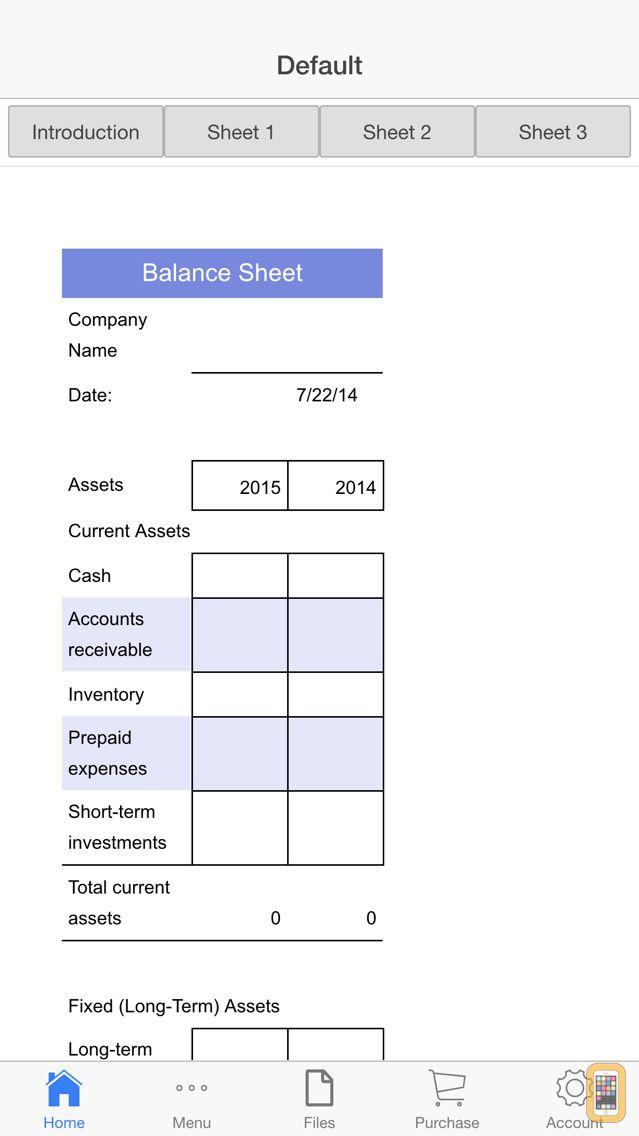Screenshot - Balance Sheet