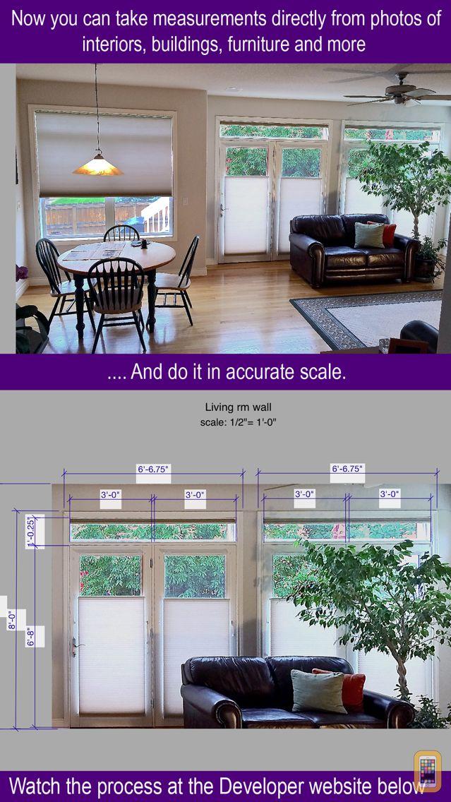 Screenshot - Photo Measure wall dimensions