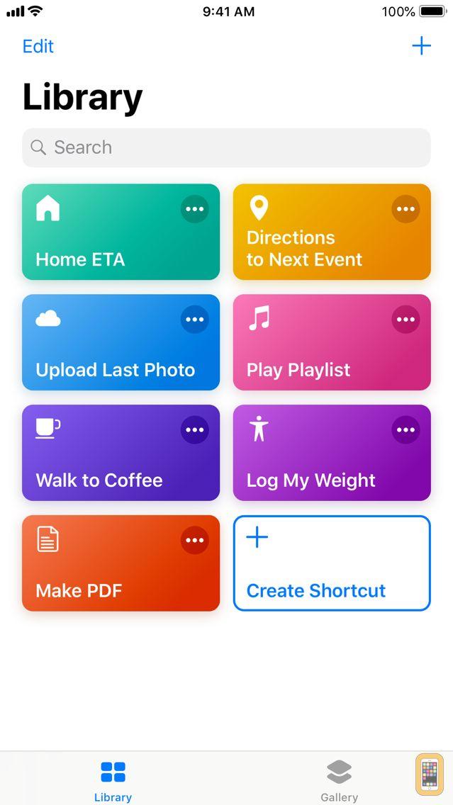 Screenshot - Shortcuts
