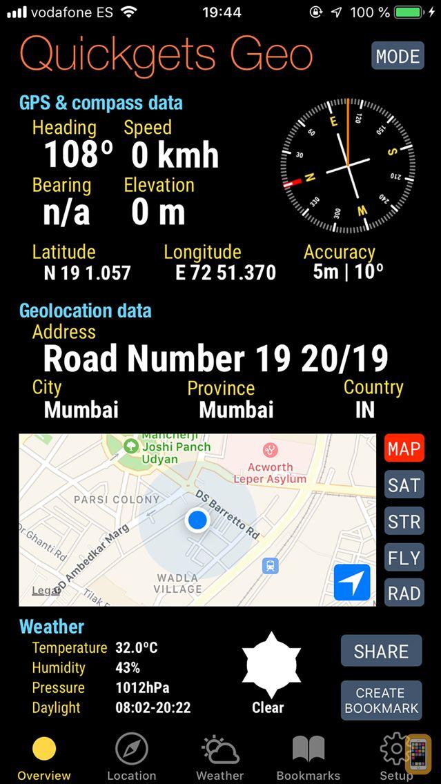 Screenshot - Quickgets Geo: geodata widgets