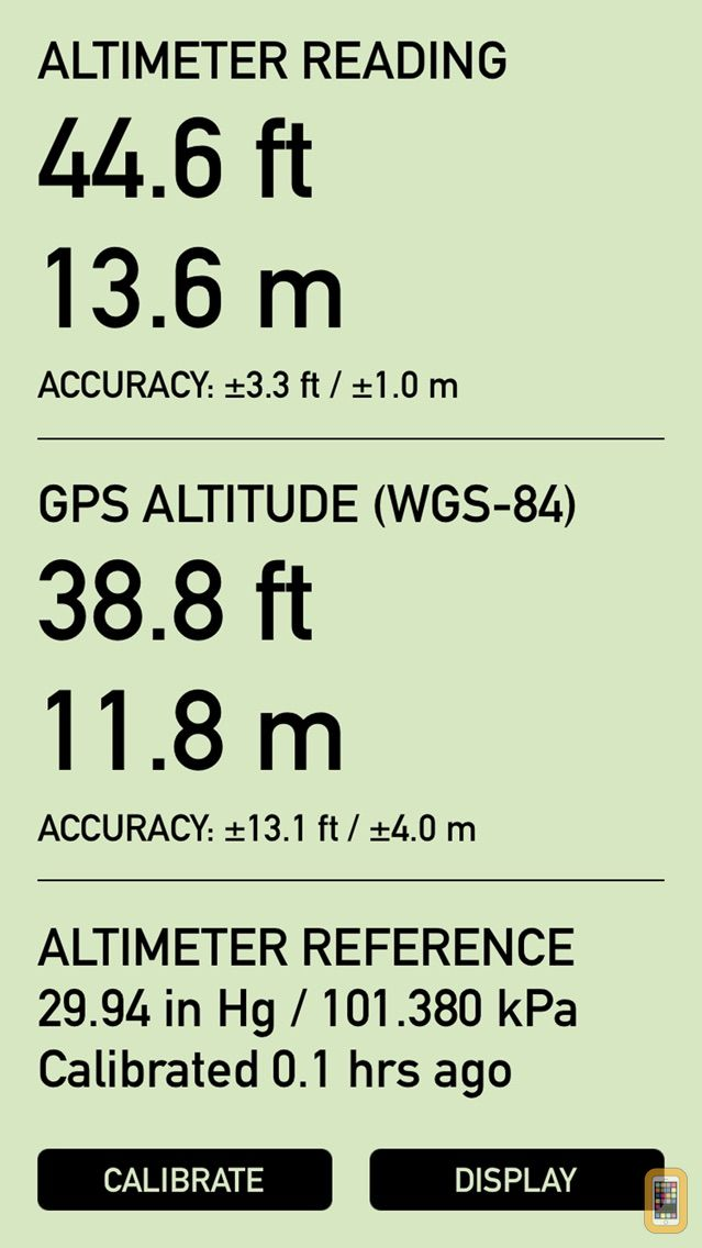 Screenshot - Pro Altimeter - Barometric Altimeter with Manual/GPS/METAR Calibration