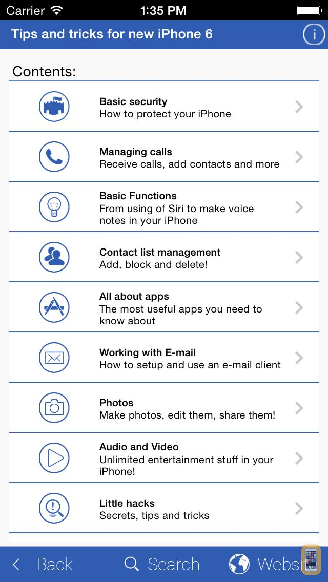 Screenshot - Tips and Tricks for New iPhone 6
