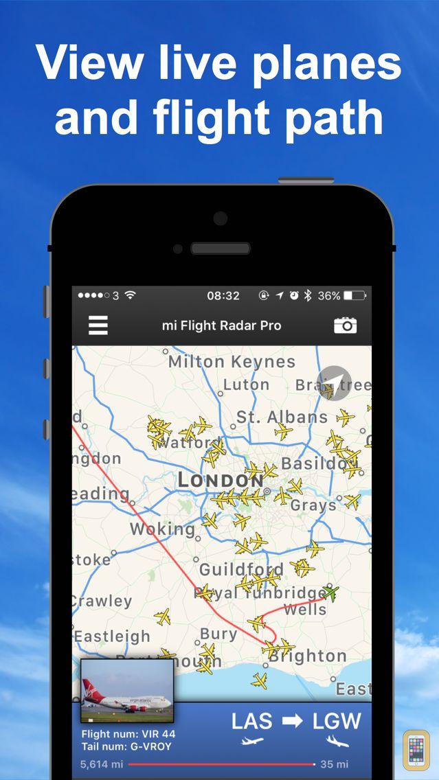 Screenshot - mi Flight Radar Pro Tracker 24