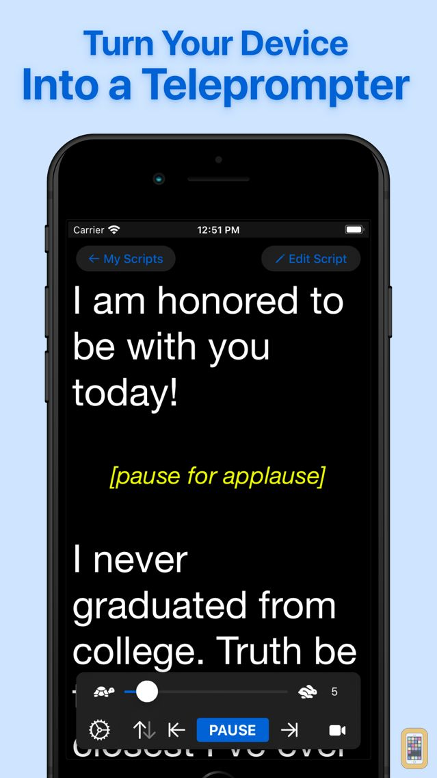 Screenshot - Teleprompter Lite