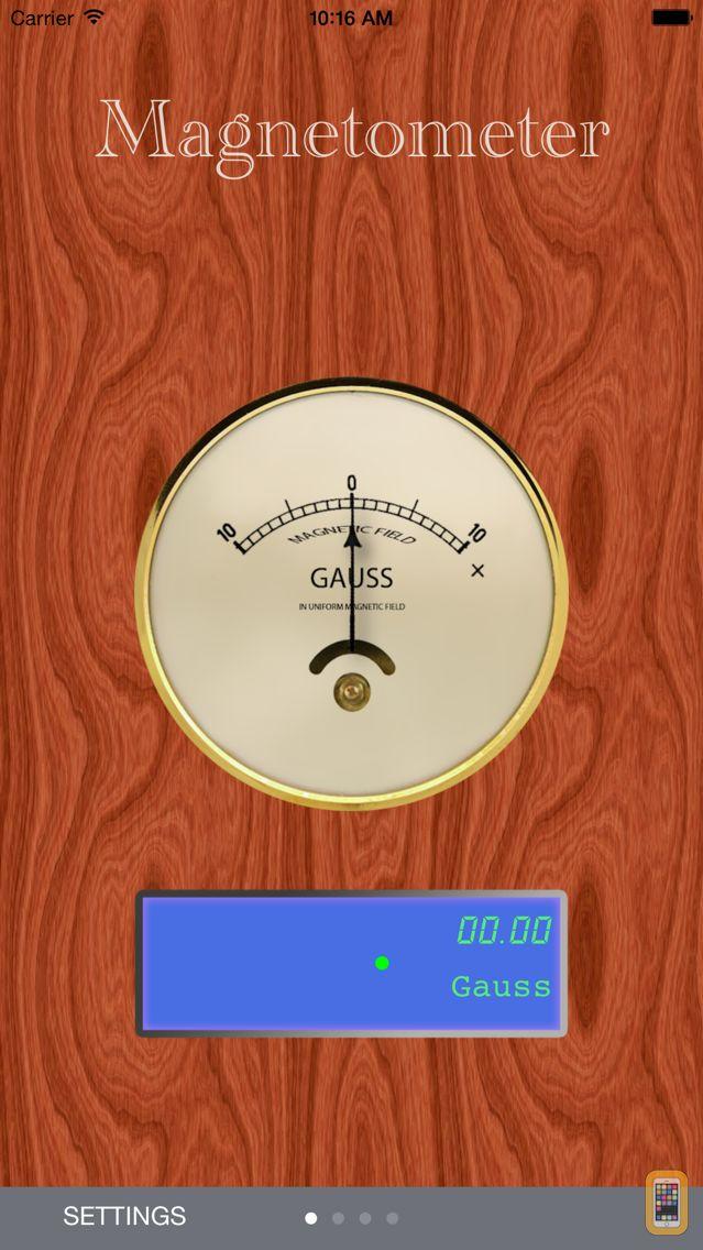 Screenshot - Magnetometer / Gaussmeter
