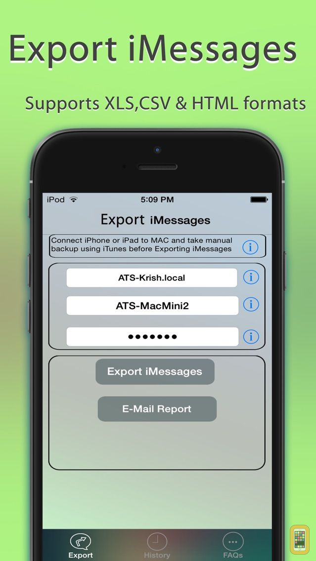 Screenshot - Export Messages - Save Print Backup Recover Text SMS iMessages