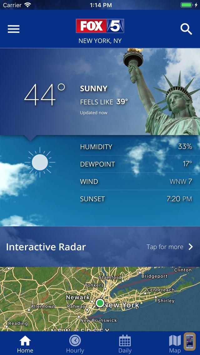 Screenshot - FOX 5: NY Weather & Radar