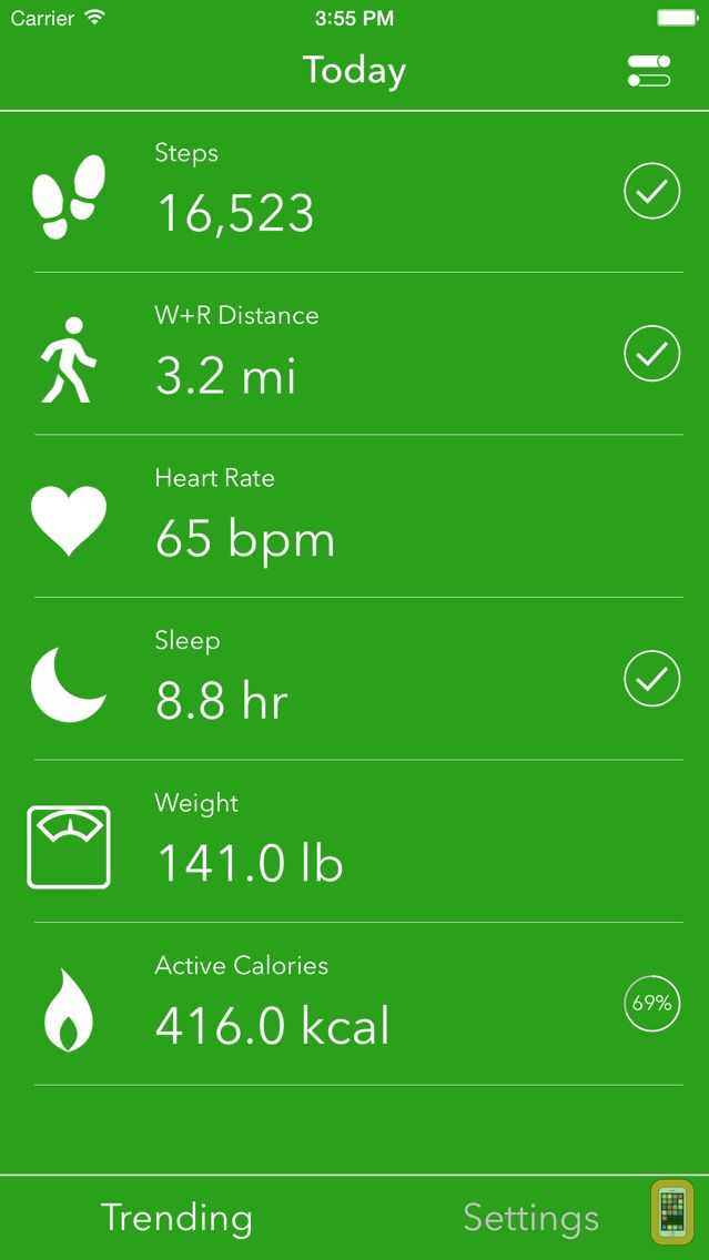 Screenshot - Dashboard for Apple Health App