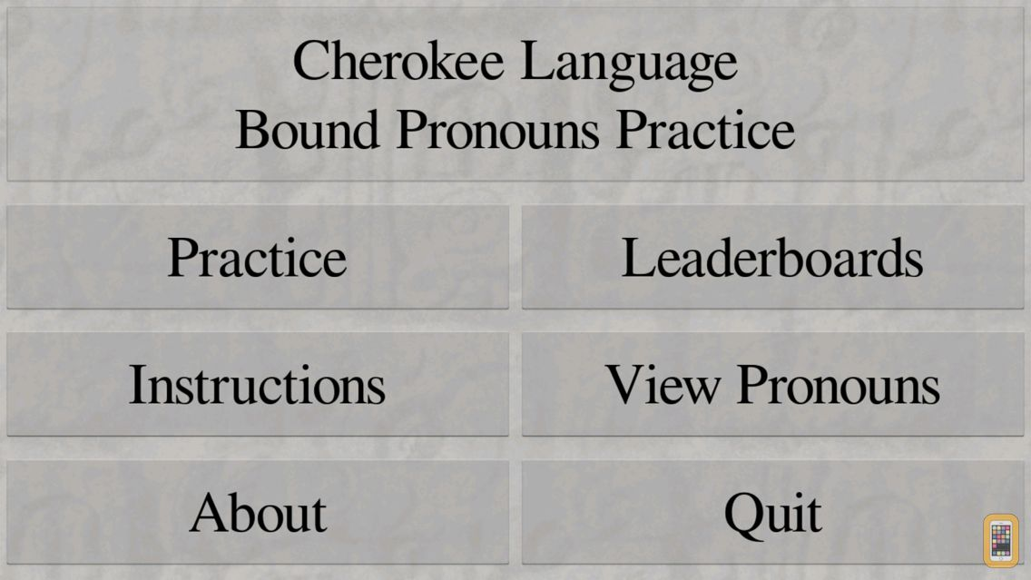 Screenshot - Cherokee Bound Pronouns