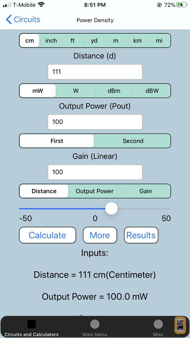 Screenshot - Electronics Calculators