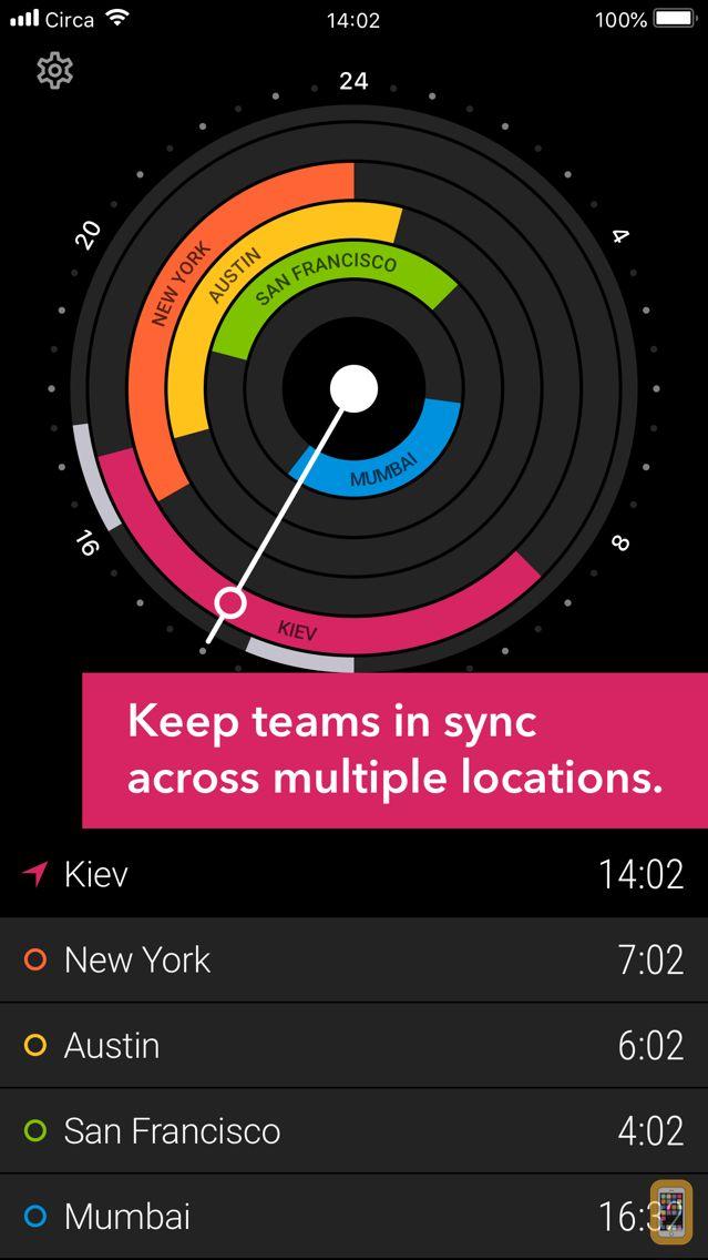 Screenshot - Circa³ – Time Zone Converter