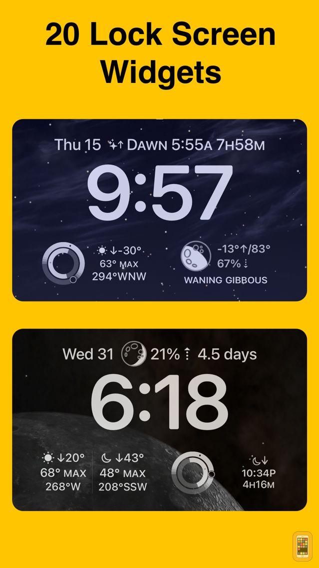 Screenshot - Sundial - Solar & Lunar Times