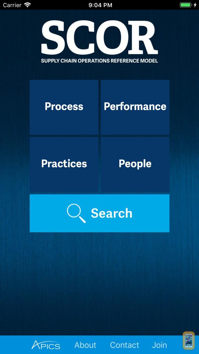 Screenshot - APICS SCC SCOR App - Supply Chain Operations Reference Model