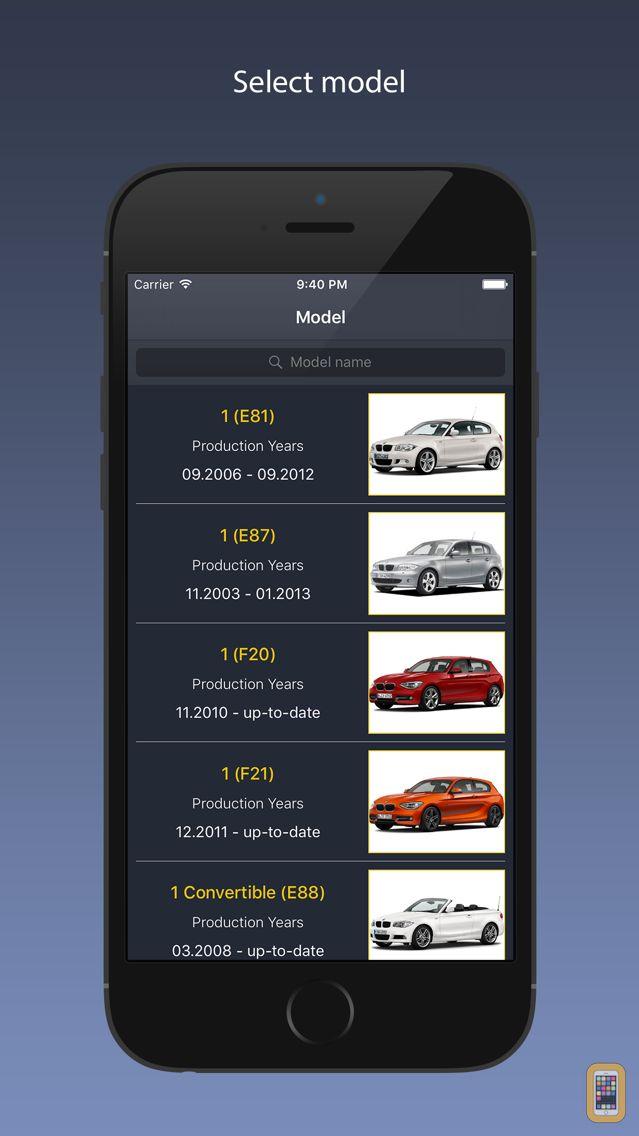 Screenshot - TechApp for BMW