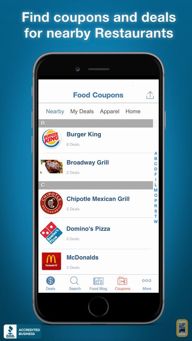 Screenshot - Food Coupons, Fast Food Restaurant Mcdonalds Pizza